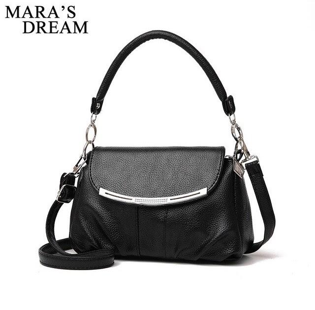 fb599356cd53 Cheap Mara s Dream Women Bag Fashion PU Leather Women s Handbags Bolsas  Female Top-Handle Bags Tote Women Shoulder Messenger Bag