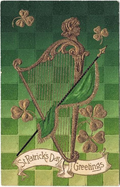 St. Patrick's Day Graphic  Harp   The Graphics Fairy