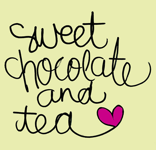 1_SweetTeaandChocolate_2 Illustration - graphic design, typography, calligraphy, sweet, tea, chocolate, handwriting, whimiscal design