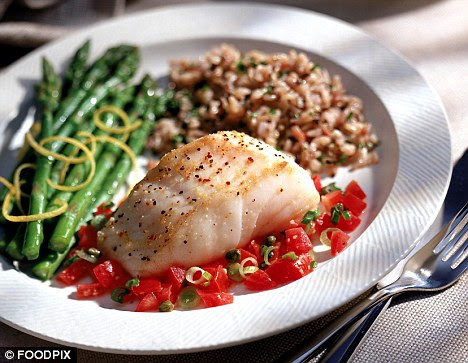 Delicious: Not only is fish tasty it could also help fight dementia because it is rich in Omega-3