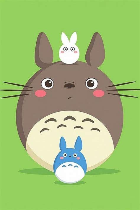 cute totoro cartoon wallpaper atmobile iphone
