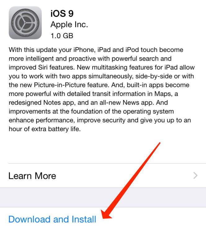 iOS Software Update