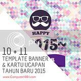 Download 10 + 11 Template Banner dan Kartu Ucapan Tahun Baru 2015