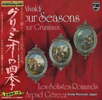 GRUMIAUX, ARTHUR vivaldi; the four seasons