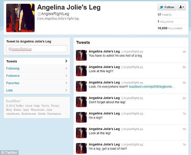 """""""Eu sou um inferno de uma perna"""": uma conta no Twitter paródia rapidamente à tona e atraiu até agora mais de 10.000 seguidores"""