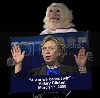 Surrender monkey Hillary