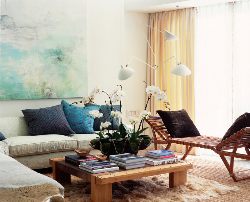eclectic living room by Digs By Katie | Katie Leede & Company