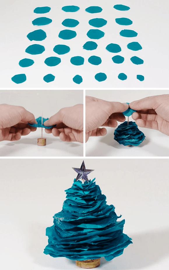 8 ideias criativas mini arvore natal decoracao casa artesanato painel criativo 7