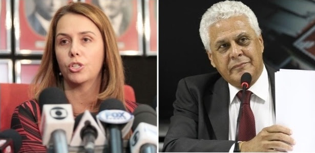 Patricia Amorim e Roberto Dinamite: momentos complicados nas administrações
