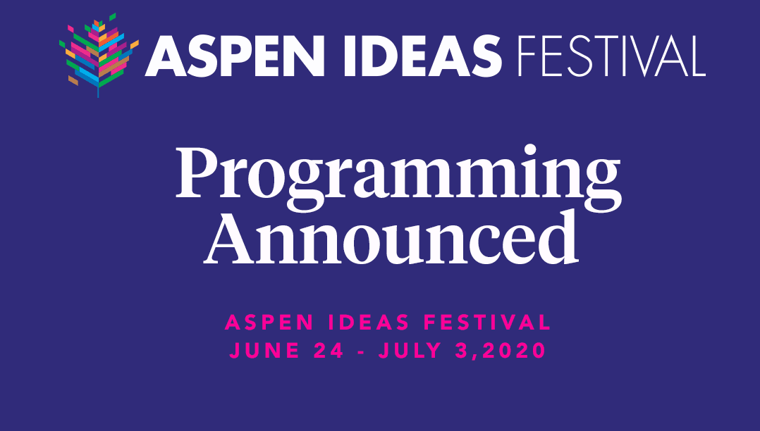 Aspen Ideas Festival 2020.Mark Rauterkus Running Mates Ponder Current Events Fwd