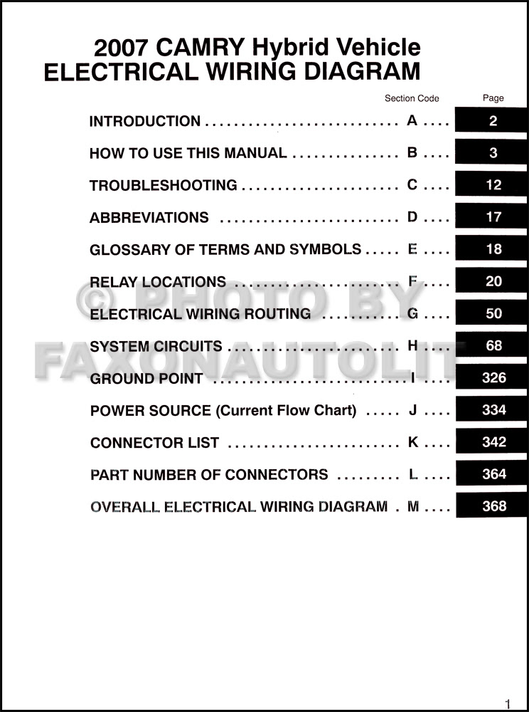 2007 Toyota Camry Hybrid Wiring Diagram Manual Original Information Of Wiring Diagram