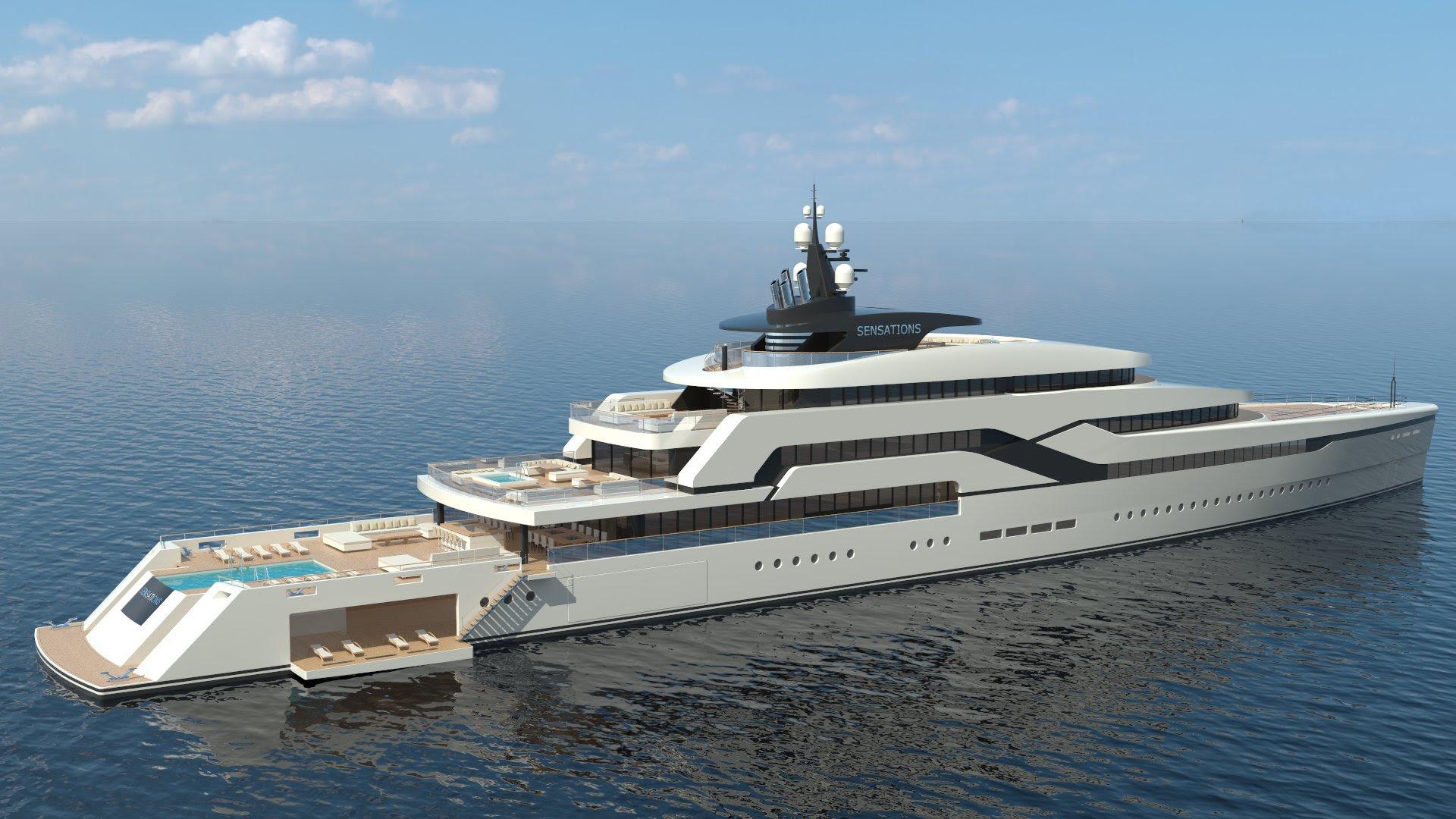 Sensations II mega yacht concept