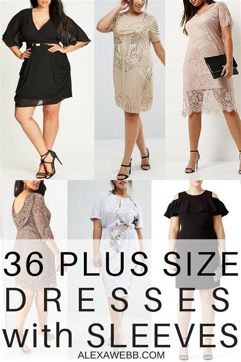 36 Plus Size Wedding Guest Dresses {with Sleeves}   Alexa Webb