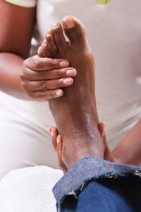 Photo: Man getting foot massage