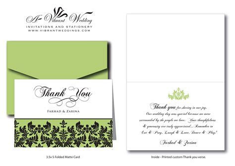Thank You Wording ? A Vibrant Wedding