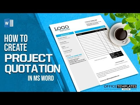 How to Design a Quotation in MS Word