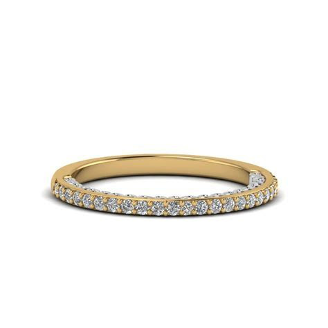 Two Tone Filigree Delicate Diamond Wedding Band In 14K