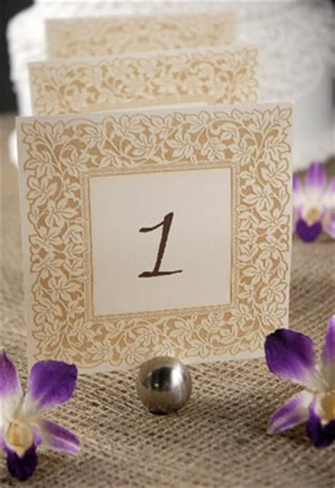 Clara Laser Engraved Table Numbers 1 10 Ivory & Gold 5.5in