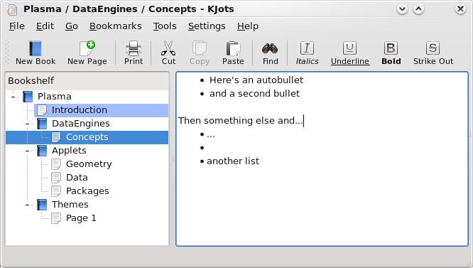 kJots KDE4