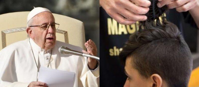 Resultat d'imatges de papa francisco prohibe chismorreo en peluquerias