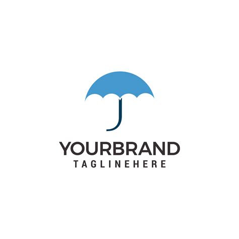 umbrella logo template vector design