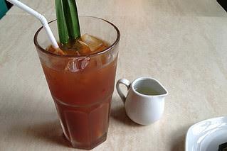 Manila - Echocafe pandan iced tea