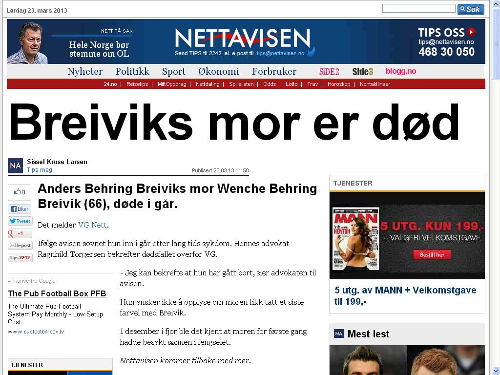 breivik fortsatt stemor