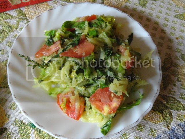 Bok Choy(Chinese Cabbage) and Tomato Saute