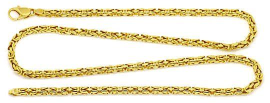 Foto 1, Königskette seltene runde Ausführung, Goldkette 18K/750, K2198