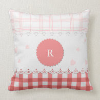 Plaid {pink} Personalized Pillow