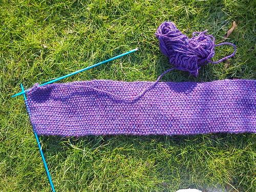 Moss stitch Feb 2012