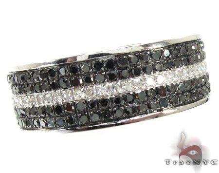 5 Row White Strip Ring Mens Diamond Ring White Gold 10k