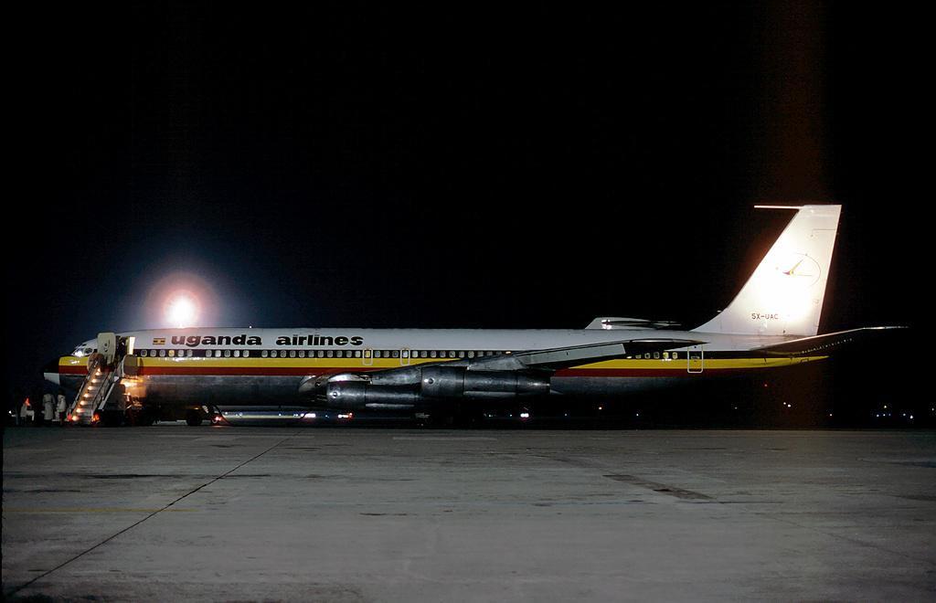 Uganda Airlines 707 in 1980