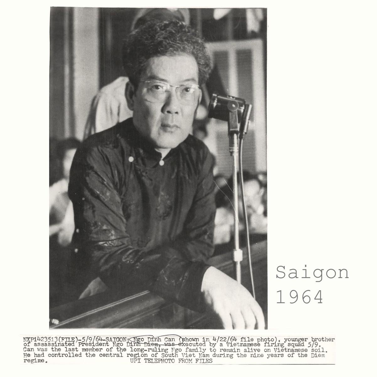 Ông Ngô Đình Cẩn tại tòa án quân sự (Saigon  /4/1964) Nguồn UPI