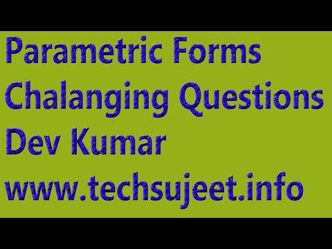 parametric form Differentiation | Math Guide | Parametric form | Dev Kumar | Technical Sanju First