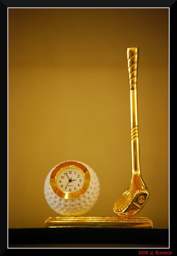 Glittering Gold Clock