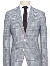 He By Mango Check Suit Blazer
