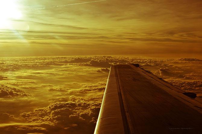 с самолета, из иллюминатора, самолет, высота, города