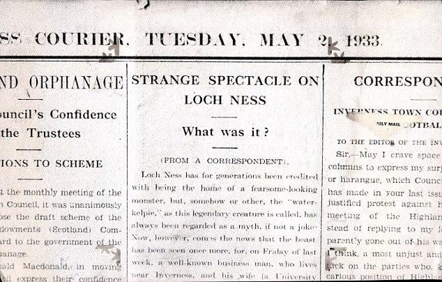 Resultado de imagen de Alexander Campbell loch ness inverness courier article