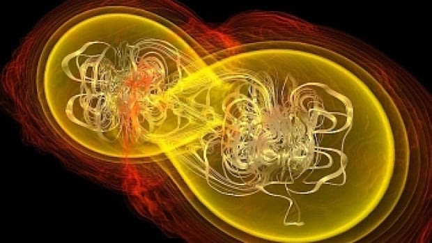 Gravitational waves are ripples in space-time that Albert Einstein's theory of general relatively predicted would be produced by massive phenomena such as neutron stars colliding.