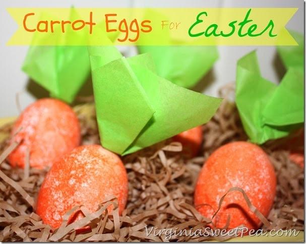 Carrot Eggs for Easter