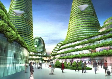 gwanggyo project competition won mvrdv architects2 Gwanggyo Power Centre, la ciudad ecológica