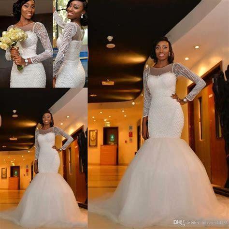2018 Hot African Nigeria New Mermaid Wedding Dresses Jewel