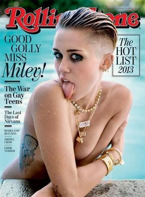 Miley Cyrus na capa da revista Rolling Stone (Foto: Revista/Reprodução)