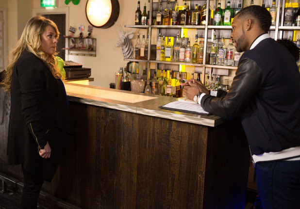 A furious Sharon tells Vincent to get out of her bar