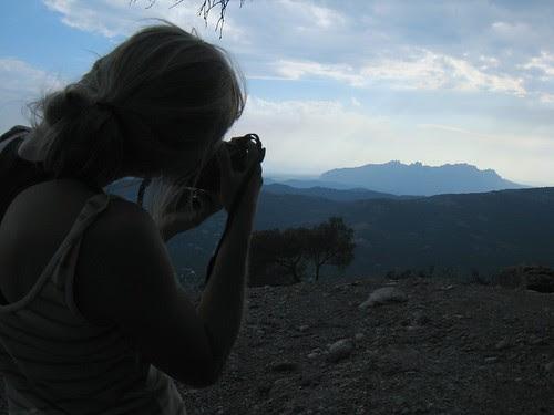 Taking photos of Montserrat