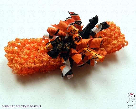 Halloween Korker crochet headband IHB463