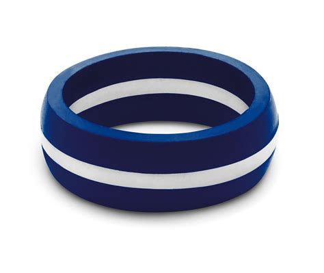 Men's EMS Thin White Line Silicone Ring from QALO for