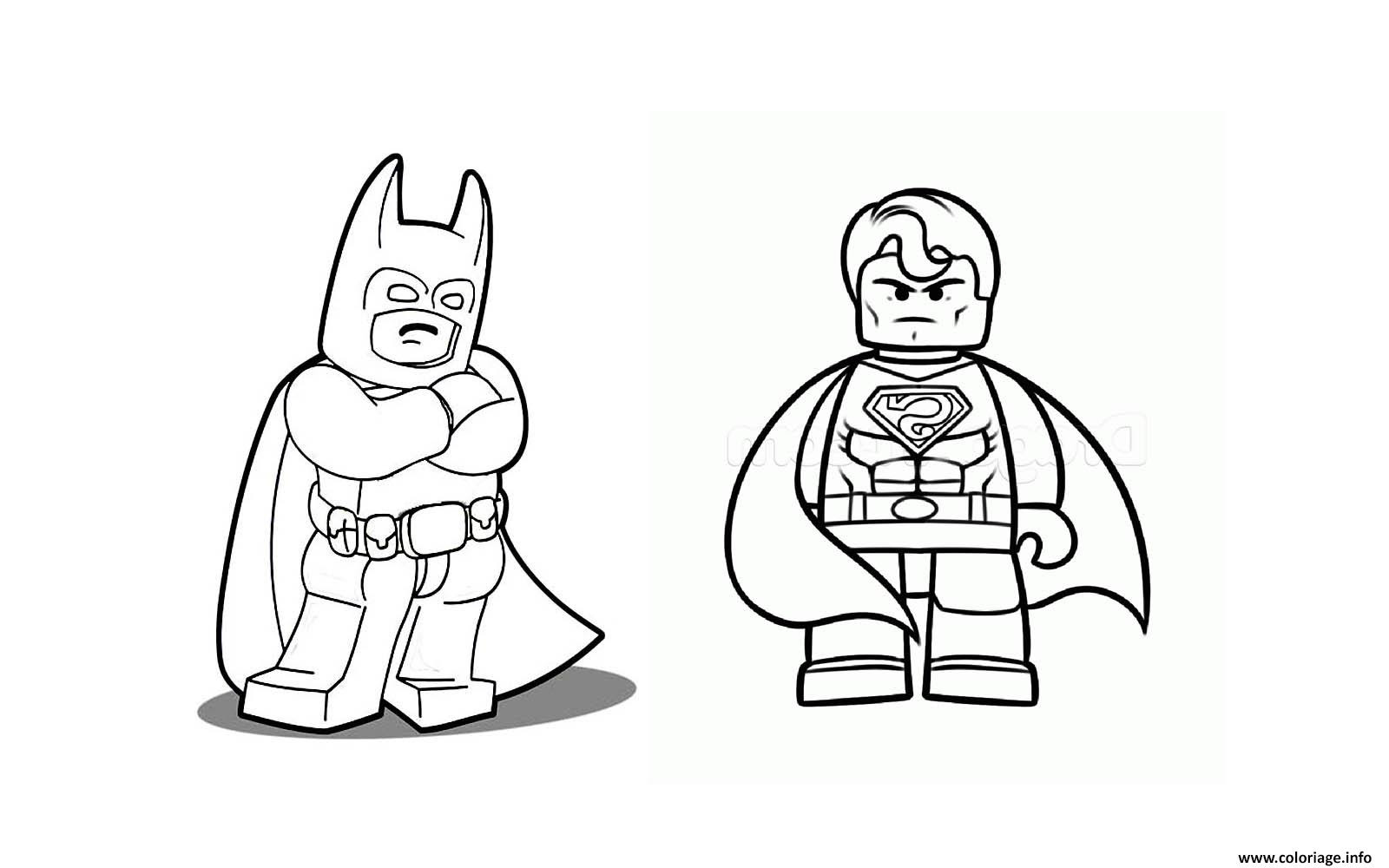 Coloriage Batman Vs Superman Lego 2016 Jecoloriecom