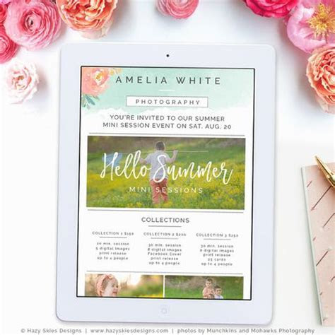 Summer Mini Session Newsletter   Watercolor Summer